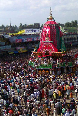 Millions flock to the Ratha-yatra in Odisha, India.