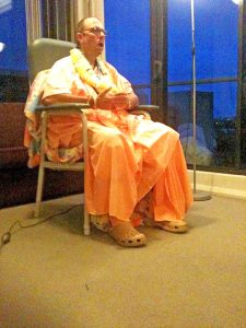 His Holiness Jayapataka Swami meeting with disciples in Sydney 2011.