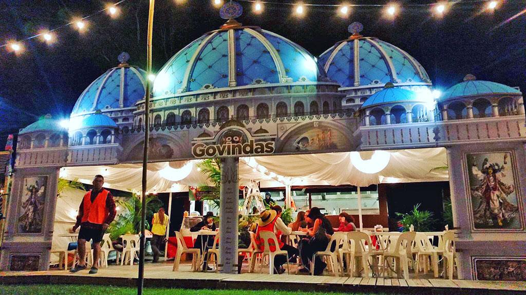Govindas Catering's new travelling prasadam pavilion.