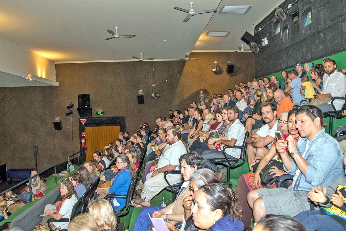 An audience of more than 220 turned out to see the Hare Krishna! movie at the Regent Cinema in Murwillumbah.