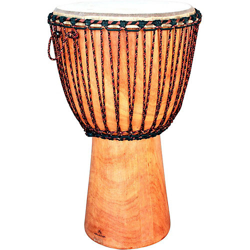 An African Djembe drum, similar to one that was stolen from the Krishna Village.