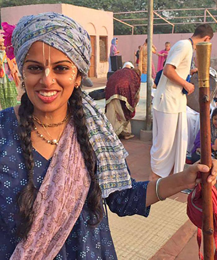 Braja Vallabhi dasi in Vrindavana on Gopastami.