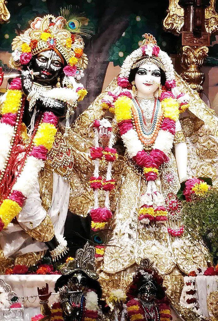 Radha Madanmohan in Ujjain's ISKCON temple, Madhya Pradesh, India.