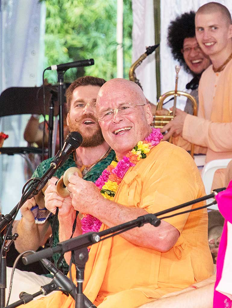 His Holiness BB Govinda Swami at the Sacred Sound Retreat 2018.