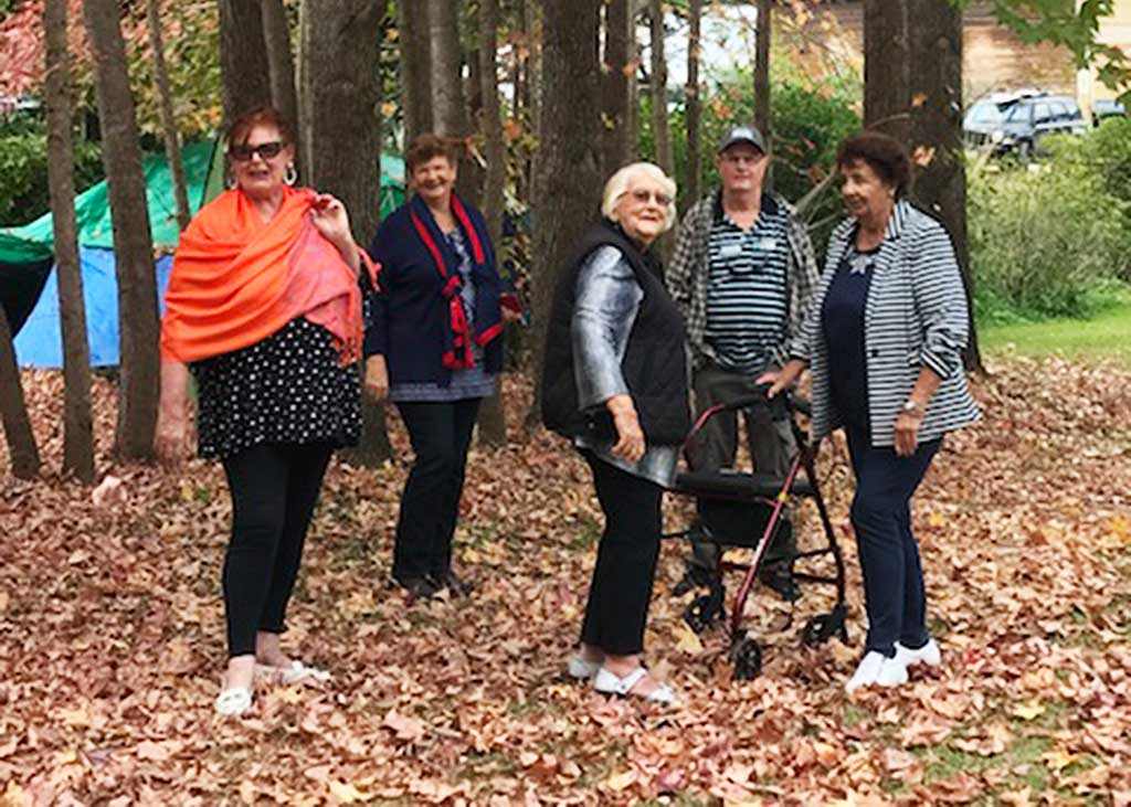 Some members of the Gold Coast Active 60+ club on their recent visit to New Govardhana.