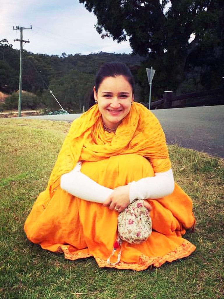 Sita devi dasi at New Govardhana