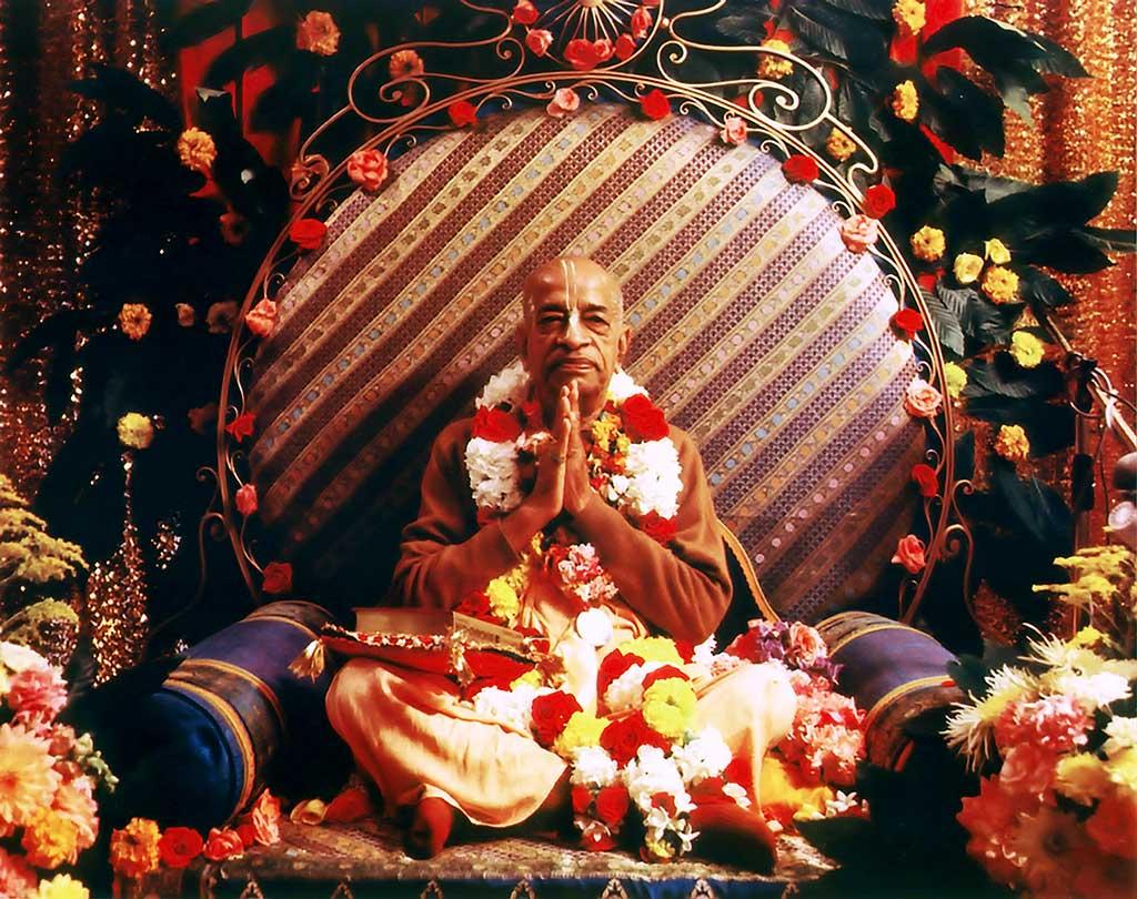 ISKCON's Founder-Acharya His Divine Grace A.C. Bhaktivedanta Swami Prabhupada.