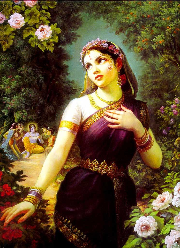 Srimati Radharani captures Krishna with Her love.