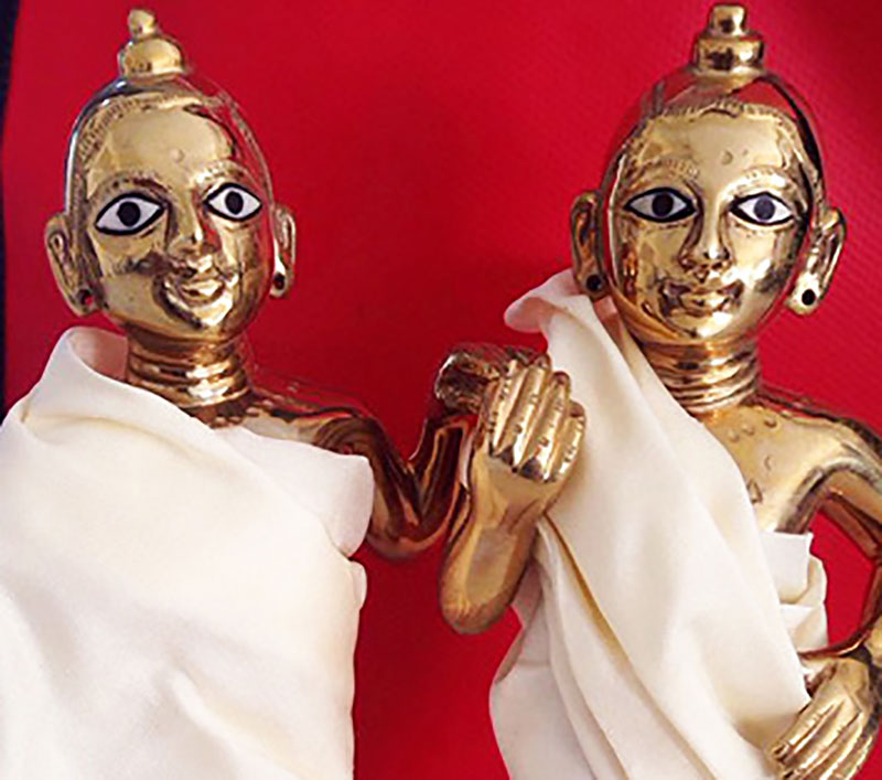 Krishna and Balarama before being repainted.