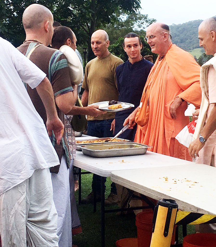 One of our illustrious guests visiting New Govardhana is His Holiness Indradyumna Swami.