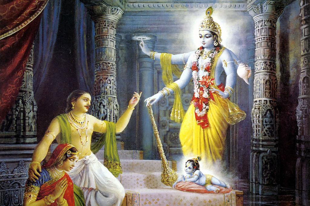The mystical appearance of the Supreme Personality of Godhead, Shri Krishna.