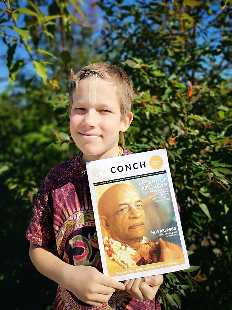 One of The Conch's big fans, Haridasa Fairbairn, 10 years old.