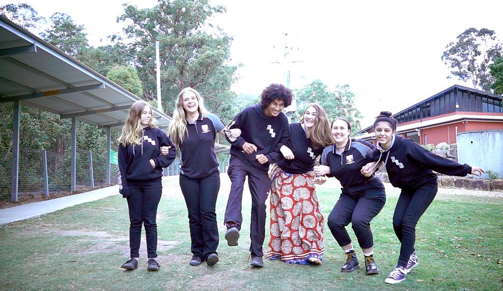 L to R: Vrinda Mitsiou, Lara Scott, Abhay Reissenberger, Kalindi Cozzi, Karuna Hooper, Surabhi Singanamala – this year's HSC graduates.