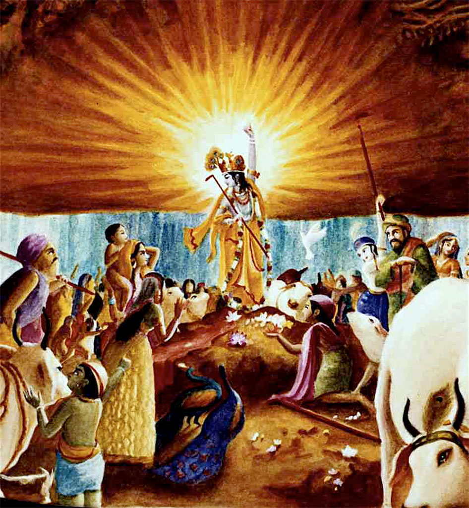 """Is it very difficult for Him to lift a mountain? He's floating so many heavy planets in the air."" (Srila Prabhupada, morning walk, 30 September, 1973, London.)"