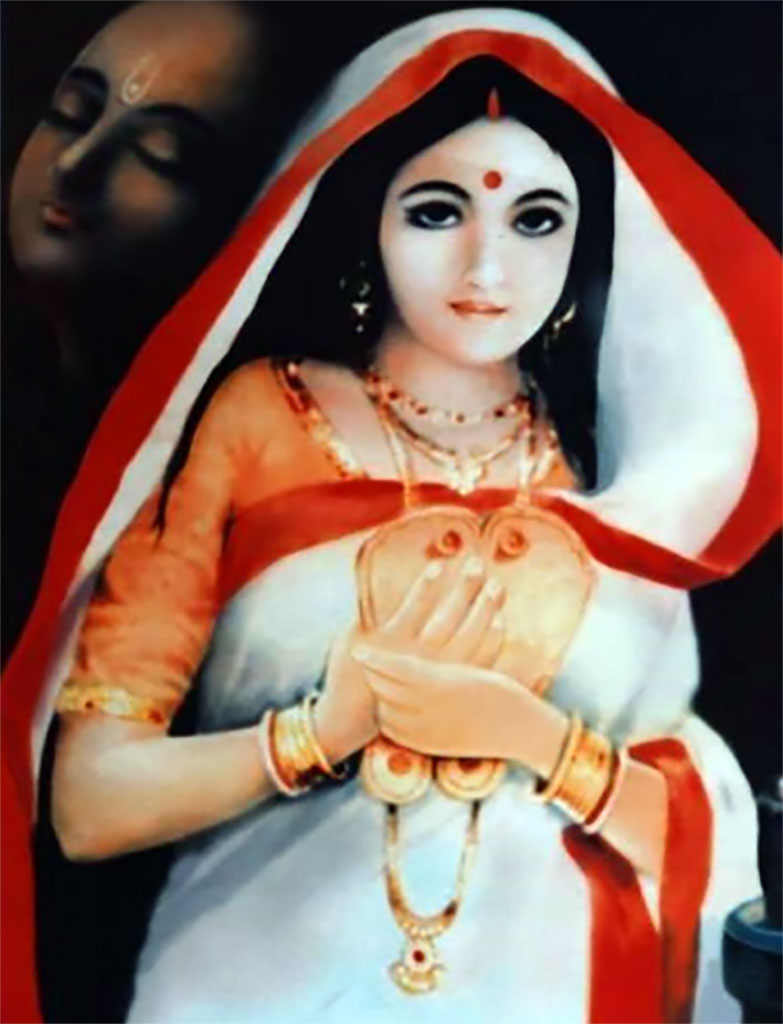 Vishnupriya Devi always remembered Lord Chaitanya, so in that way she was always serving Him and was therefore never separated from Him.